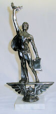 Art Deco Weidlich Brothers Statue Athletic Trophy Man W/ Scroll & Laurel Wreath