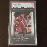 2003 Upper Deck, LeBron James Box Set, #11, Rookie RC, PSA 9 MINT *only 3 higher