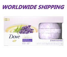Dove Milk Swirl Bath Bombs Lavender & Honey Macaron 2 Ct 5.6 Oz World Shipping