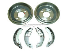 FIAT PUNTO MK2 1.2 16V SPORTING 1999-2005 REAR 2 BRAKE DRUMS AND BRAKE SHOES SET