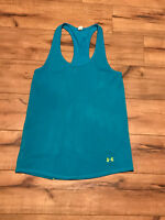 Under Armour Women's Tank Racerback Top Blue Athletic Run Size XSmall  ~ *WOW*