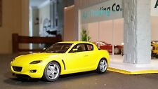 AutoArt SLOT Car 1:32 MAZDA RX-8 Yellow Lighting Lamps New in Display Box