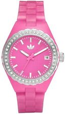 New Adidas Mini Cambridge Pink Rubber Band Date Women Watch ADH2106 35mm $85