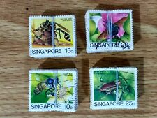 Singapore 1985, insects definitives 15c,20c,25c & 10c bundle of 100 each