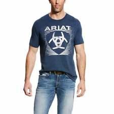 Ariat Shade   T-Shirt Mens  Top Casual  Crew Neck Crew Neck - Blue