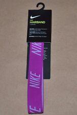 Nike Logo Women's Headband NJNF6544OS -  Elastic Purple / Magenta Hairband