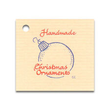 50 SMALL*CHRISTMAS ORNAMENT* HANG TAGS & STRINGS, PRICE COUNTRY CRAFTS GIFT