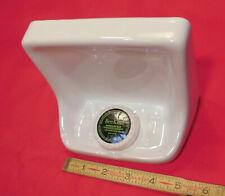 Glossy *White* Ceramic Soap Dish for tub or shower, Mint New Stock, Drain Slot