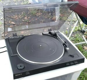 Sony PS-LX250H Automatic Stereo Turntable System Record Player LP Black 2003