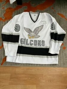 Michigan Falcons Jersey signed by Bobby Hull