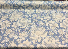 Waverly P/K Distinctly Damask Blue Porcelain Fabric by the yard