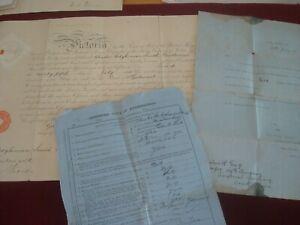 MAJOR CHARLES HODKINSON SMITH BOAR WAR COMMISSION1900 / ATTESTATION DOCUMENT
