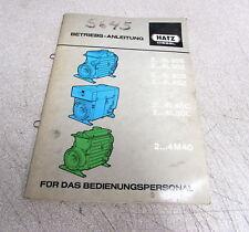 Hatz Diesel  2-4L30S 2-4L30Z 2-4L40S 2-4L40Z Engines Betriebs Anleitung Manual
