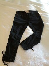 BNWT CONVERSE JOHN VARVATOS BLACK CROPPED STRETCH JEANS RRP £160 SIZE 6