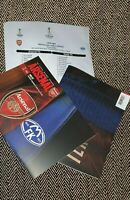 Arsenal v FK MOLDE EUROPA LEAGUE 5/11/2020 MATCHDAY PROGRAMME WITH TEAMSHEET!!!