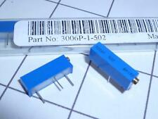 Trimmer Resistor 3006P-1-502 10% Multiturn Trimpot 5KOhm 0.75W BOURNS QTY-2 CA41