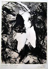 GRAVURE EAU-FORTE HOMME MOUSTACHU 1997 signée CHARTON 23,8 x 17,7 cm