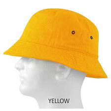 MEN 100% COTTON FISHING BUCKET HAT CAP