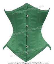 26 Double Steel Boned Waist Training Satin Underbust Shaper Corset 8033(OT-SA)