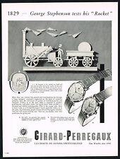 1950's Vintage 1955 Girard Perregaux 6749 Dress & 6768 Gyromatic Watch Print AD