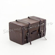 1:12 Dollhouse Leather Suit Case Wooden Furniture Travel Miniature Decor Gift