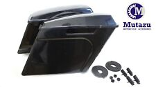Mutazu Unpainted Stretched Extended Saddlebags Saddle Bags Harley Touring 94-13