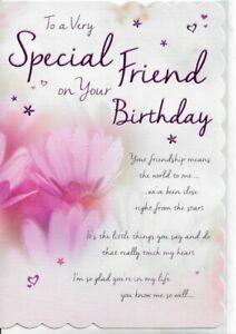 SPECIAL FRIEND  BIRTHDAY CARD***REGAL PUBLISHING***9 X 6.5 INCHES***N7