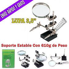 Lupa Electrónica Relojero Con Soporte Para Soldador  Base Estable con Pinzas 600