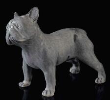 "French Bulldog Marble Dog Figurine Sculpture Russian Art Stone Statue 4 13/16"""
