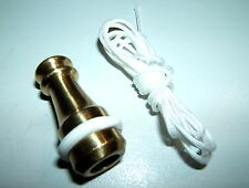 1x SOLID BRASS CORD PULL LIGHT TOILET BATHROOM SWITCH WHITE SILICONE RUBBER RING