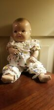 """Antique Composition Jointed Tin Sleep Eyes Baby Doll 12"""""""