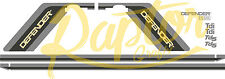 Land Rover Decals Stripes 110 Commercial Defender Graphics PUSH BUTTON HANDLE
