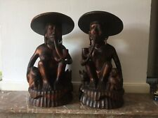 Antique Hand Carved Wood Figures
