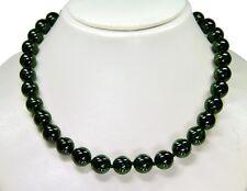 Precioso Collar de Rio Verde en Forma de Bola D-12mm y Nudo Individual