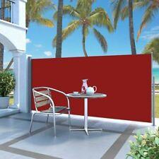 Vidaxl Auvent Latéral Rétractable 120 x 300 cm Rouge pelouses et Jardins