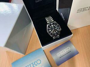 UNWORN!!! Seiko SKX007 K Diver's watch 200m black on Genuine Jubilee strap