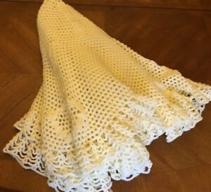 Baby handmade  large crochet circular shawl BUTTERCREAM - CHRISTENING, WEDDING
