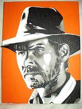 Lienzo De Indiana Jones Harrison Ford B&W Arte 16x12 pulgada de acrílico