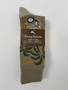 Tommy Bahama Assorted Khaki Casual Crew Socks 4 Pairs NWT One Size MSRP $22