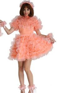 Sissy girl orange puff dress Tailor-Made
