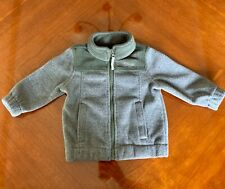 North Face Style Baby Boy Infant Kids Sz 12 Month Full Zip Fleece Jacket Gray