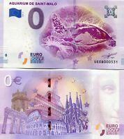 Aquarium De Saint Malo France Bretagne 0 Euro Souvenir Note 2019 Series 3