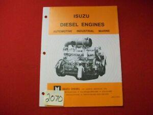 ISUZU DIESEL ENGINES BROCHURE AUTO INDUSTRIAL MARINE SPECIFICATIONS & GENSET