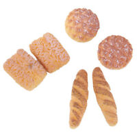 1X(6pcs Bread for 1/12 Dollhouse Miniature L8B7)