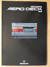 HONDA ACCORD AERODECK SE orig 1992 UK Mkt Sales Brochure