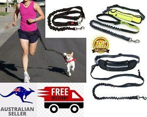Adjustable Elastic Walk Running Dog Pet Waist Belt Hands free Jogging Lead-Leash