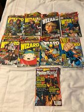 Wizard Comic Magazines Lot Of 9 (1999): #90-98 and Also Postermania '99