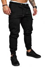 Herren Cargo Jogger Chino Stretch Hose Jeans Sweatpants Sweathose 7001