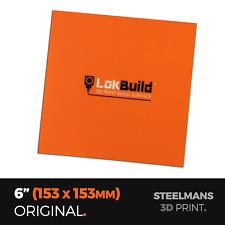 """LokBuild : 3D Print Build Surface - 6"""" (153 x 153mm)"""