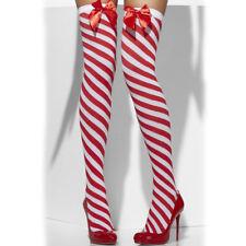Rouge et Blanc Bas Auto Fixant Noël pour Femmes Bas Rayure Sucre D Orge 51cb98a7cb1